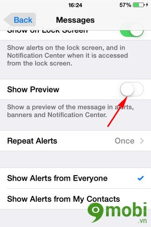 iOS 8 - Trick hidden content in messages on the iPhone lock