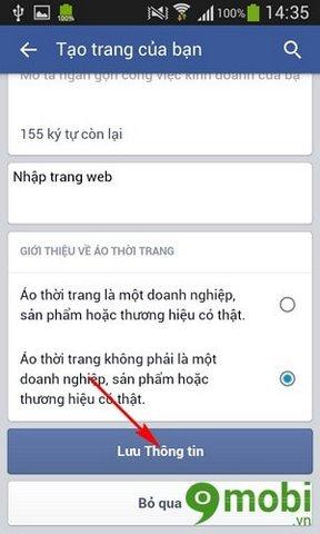 tao trang tren facebook bang dien thoai