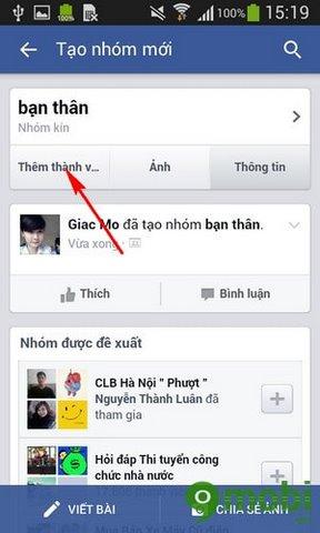 tao nhom tren facebook