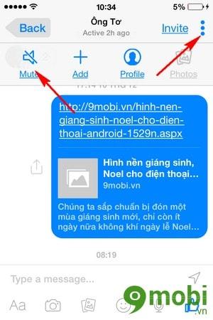 tat chuong Facebook Messenger