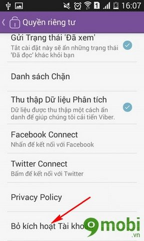 thoat tai khoan viber tren android iphone
