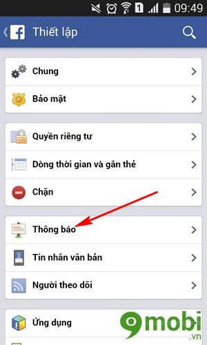 tat loi moi choi ung dung facebook tren dien thoai