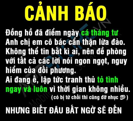 anh che 1/4 canh bao