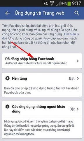 go bo ung dung doc hai tren Facebook