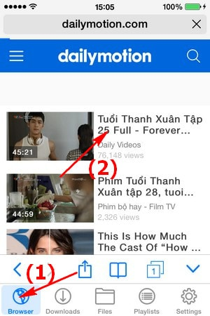tai video tren iphone