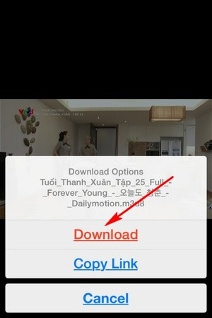 download video cho iphone
