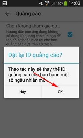 tat quang cao cua google tren android