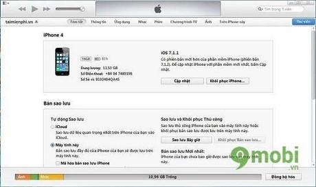 cach restore iPhone 4