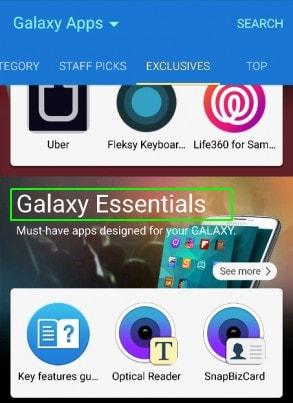 cai dat ung dung Samsung cho Galaxy S6