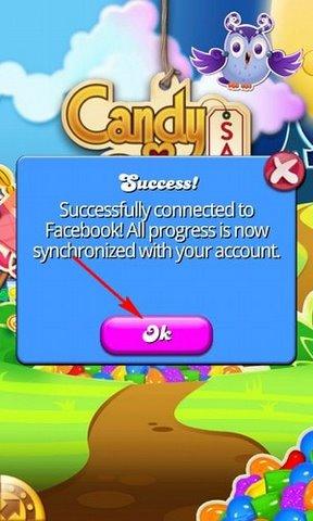 cach ket noi Candy Crush Saga voi Facebook