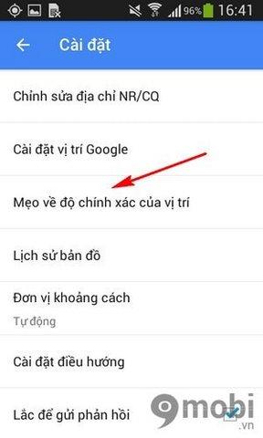 tang do chinh xac cho Google Maps