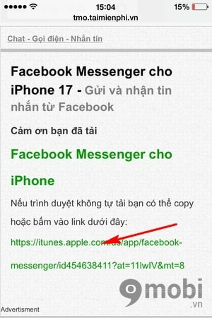 Instructions for installing the Facebook Messenger for your