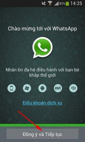 dang ky tai khoan Whatsapp Messenger