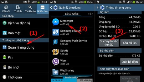 giai quyet loi Insufficient storage available tren Android