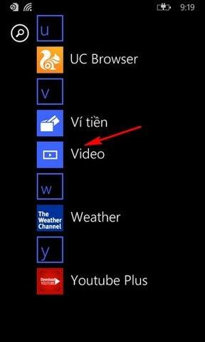 tai video Youtube tren dien thoai Windows Phone