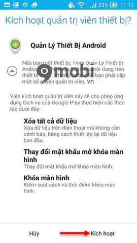 kich hoat Android Device Manager nhu the nao