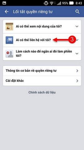 chan tin nhan quang cao facebook