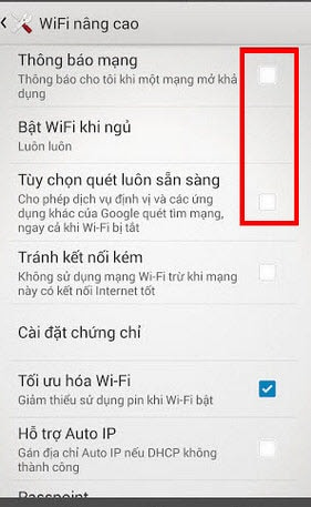 tat ung dung android chay ngam