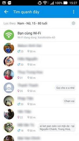 tim ban cung wifi tren zalo