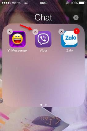xoa tai khoan viber tren iphone