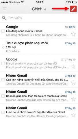 dang nhap gmail tren dien thoai
