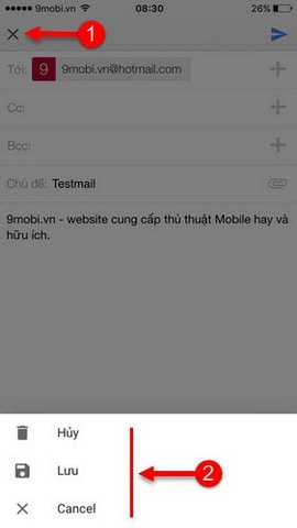 dang nhap gmail tren iphone
