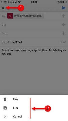 dang nhap gmail tren iphone