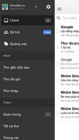 dang nhap gmail tren android