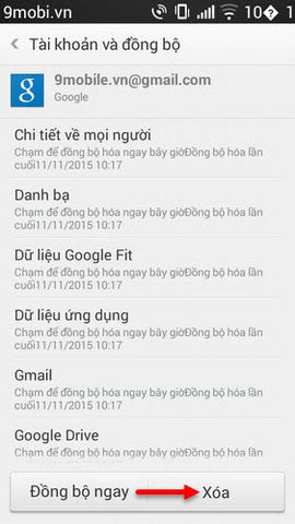 delete tai khoan google