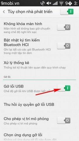 go loi usb android