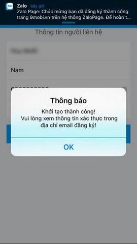 tao zalo page tren iphone