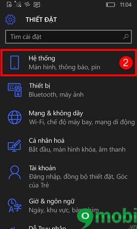 xoay man hinh windows phone