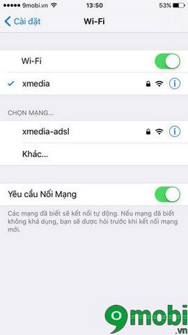 iphone khong tu nhan wifi