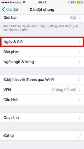 cai dat ngay gio iphone