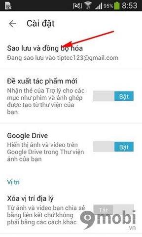cach sao luu va dong bo anh len Google Photos tren Android