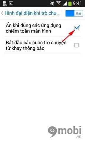 tat chat tren man hinh cua Facebook Messenger