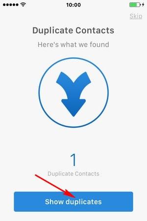 hop nhat danh ba trung lap tren iPhone