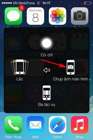 chup anh man hinh iOS