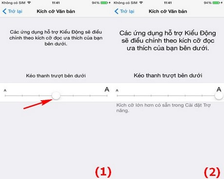 how to change text size on iphone