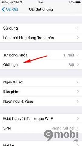 mat ung dung Safari tren iPhone