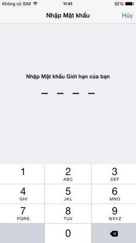 khong thay Safari tren iPhone