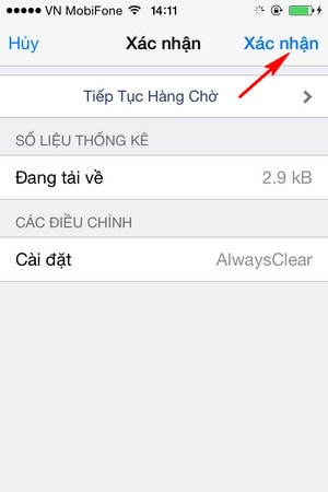 xoa nhanh thong bao tren iPhone