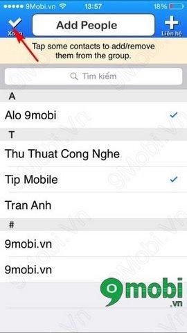tao nhom trong danh ba iphone 4s