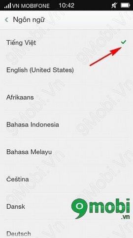 Change Language Vietnamese - English on Oppo