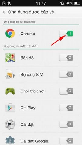 How to lock the phone application on Oppo