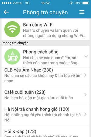 vao phong chat zalo tren iphone