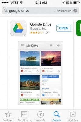 how to save videos on google drive to iphone