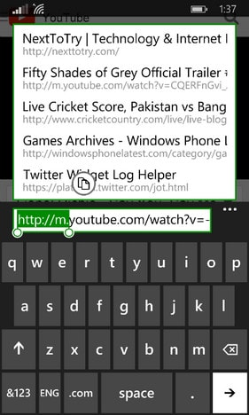 tai video youtube tren windows phone