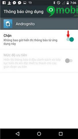 bat tat thong bao ung dung android 5.0