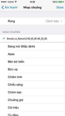 cai dat nhac chuong iphone, thêm mới nhạc chuông iphone